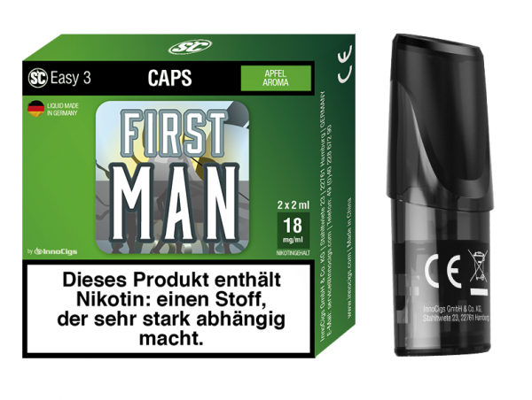 Easy 3 Caps First Man Apfel (2 Stück pro Packung)
