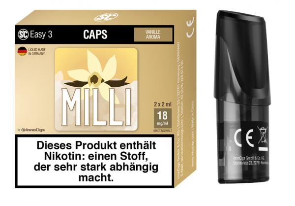 Easy 3 Caps Milli Vanille (2 Stück pro Packung)