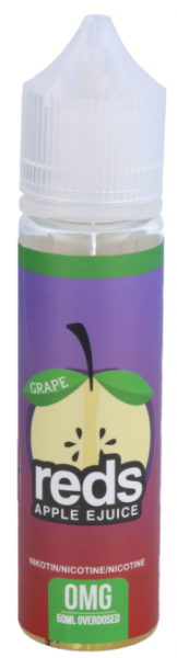 red's Apple EJuice - Grape 0mg/ml 50ml