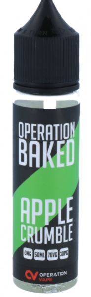 Operation Baked - Apple Crumble - 50ml 0mg