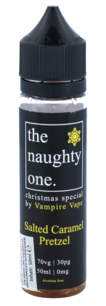 Vampire Vape - The Naughty One - Salted Caramel Pretzel 50 ml - 0 mg/ml