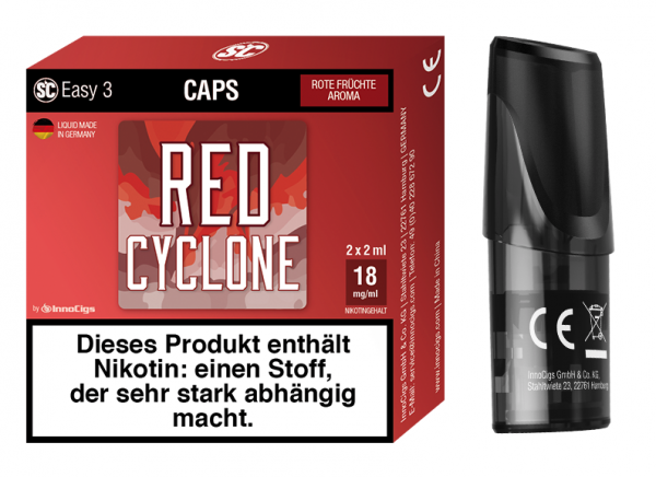 Easy 3 Caps Red Cyclone Rote Früchte (2 Stück pro Packung)